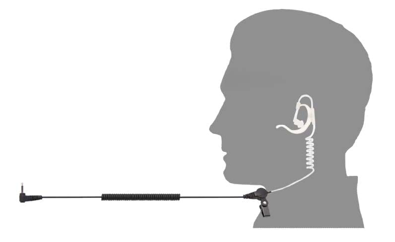In-Ear w/ Hook Listen Only Earpiece for Tait TP3