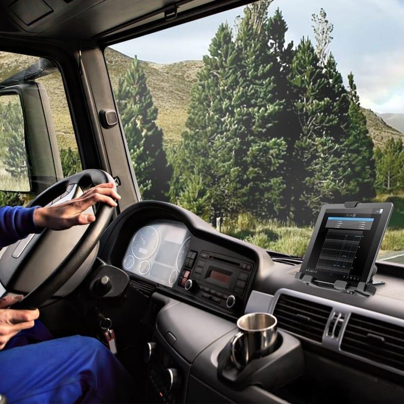 Tablet locking mount for car dashboard